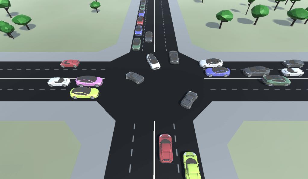 automatic traffic intersection habrador