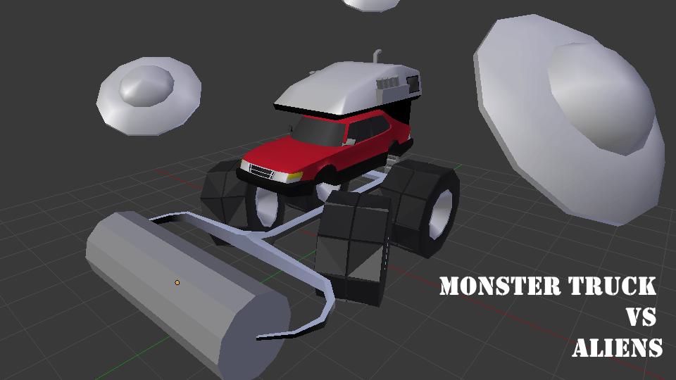 Monster truck vs aliens logo