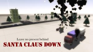 Santa claus down logo