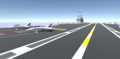 Aircraft carrier simulator logo