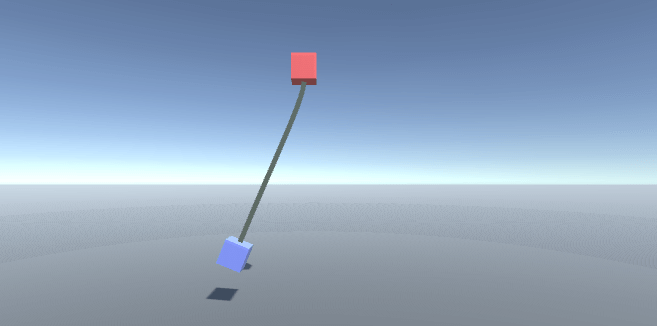 How to create a swinging rope in Unity - Create a simplified rope