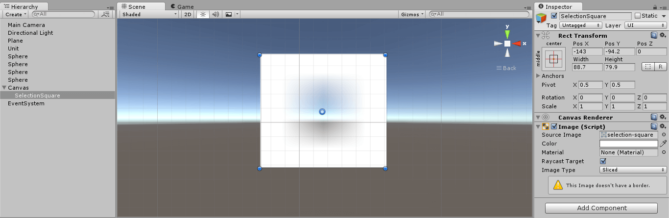 Select units within a rectangle in Unity with C# | Habrador